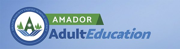 amador adult education banner